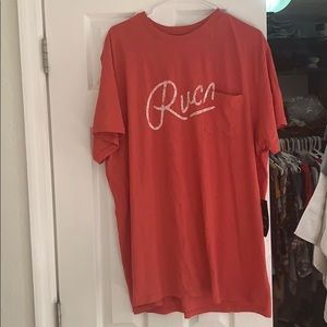 Men's size XXL red RVCA t shirt NWT